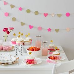 Girls party table