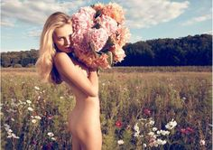 There's always the option of no wardrobe, just flowers lol.  Edita Vilkeviciute by Camilla Akrans
