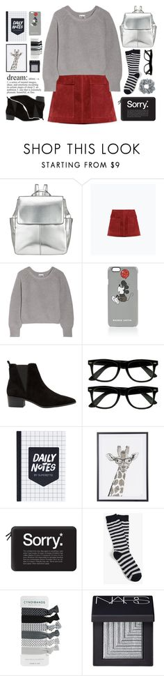 """""""Untitled #366"""" by ino-6283 ❤ liked on Polyvore featuring Kin by John Lewis, Zara, Oak, Markus Lupfer, MANGO, Casetify, American Trench, NARS Cosmetics and Natasha Couture"""