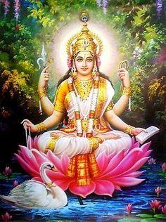 "Goddess Saraswati Poster : Colorful, Large, Big Size Poster - 56""x40"" (# LPT04)"