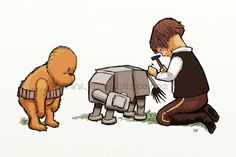 Star wars meets winnie the pooh prints!! Must have for a star wars nursery!!!