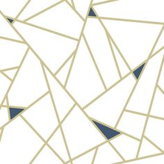 GOLD FRACTURE PEEL & STICK WALLPAPER - gold / 1 roll - 20.5 inches wide x 16.5 feet