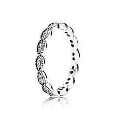 PANDORA | Sparkling leaves, clear cz Love a promise ring like this: you can stack it with engagement ring and wedding band