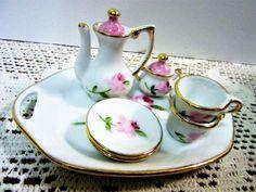 Tea Set  Miniature Mini Doll Porcelain China by PorcelainChinaArt