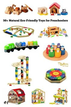 50+ Natural eco-friendly toys for preschoolers. This gift guide is filled with Waldorf and Montessori inspired toys made with natural materials that your child is sure to love. There are so many amazing toys to choose from!