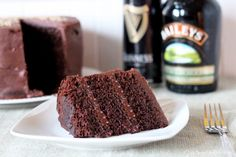 Chocolate Stout Cake with Baileys Irish Cream Chocolate Ganache (Recipe)