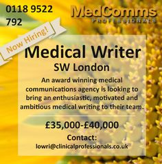 Medicalcommunications Accountmanager Medical London Marketing