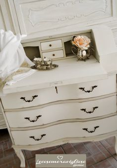 # shabby chic #painted two toned #dresser
