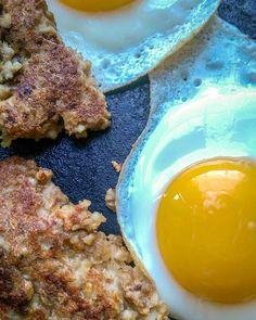 Ohio Goetta with eggs detail