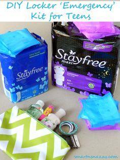 Smart n Snazzy: DIY Locker 'Emergency' Kit for Teens ~ #FreeToMove with Stayfree #CBias #Shop