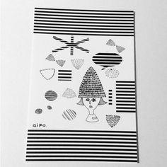 シャイなおんなのこです.POST CARD用に描きました|ハンドメイド、手作り、手仕事品の通販・販売・購入ならCreema。