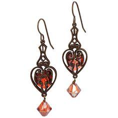 Scarlet Heart Earrings | Fusion Beads