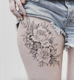 sexy thigh tattoos for women #tattoosforwomensexys #TattooIdeasForWomen
