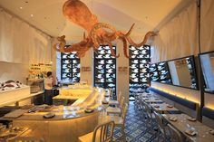Designed by Antonio Martins,  this traditional Peruvian restaurant serves dishes made of raw fish (salmon, octopus or shrimp) cured in lemon or lime juice. A giant octopus (made of sponge) hanging from the ceiling lures the attention of...