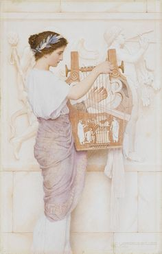 Girl with lute, George Lawrence Bulleid