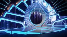 Corporate stage set on Behance Tv Set Design, Stage Set Design, Set Design Theatre, Church Stage Design, Concert Stage Design, Wedding Stage Design, Music Studio Room, Studio Setup, Royal Ballet