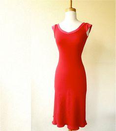 Valentine's dress organic cotton by econica on Etsy
