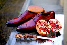 """""""Pomegranate"""" The new Patina by Alexander Nurulaeff - Dandy Shoe Care for a lucky collector and rafinato gentleman Mr.A.S."""