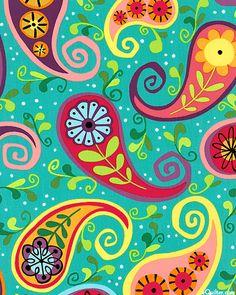 Dazzle - Graphic Paisleys - Turquoise
