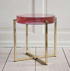 McCollin Bryan Tinted Lens Table | From a unique collection of antique and modern side tables at https://www.1stdibs.com/furniture/tables/side-tables/