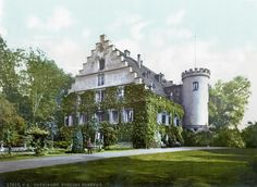 Schloss Rosenau, located in Bavaria, Germany. Originally constructed in 1439, it was renovated multiple times. In 1817 Karl Friedrich Schinkel reconstructed the main house with a Gothic Revival style.