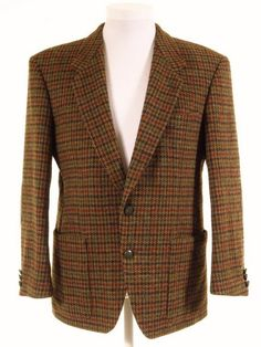 Harris Tweed blazer w/ elbow patches - Tweedmans Vintage Tweed Outfit, Tweed Blazer, Harris Tweed Jacket, Tweed Jackets, Tweed Run, Elbow Patches, Formal Wear, Vintage Men, Suits