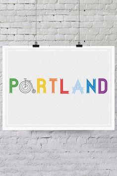 Portland Bike Print