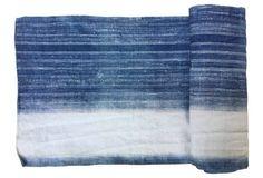 Indigo Batik Linen Fabric