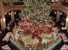 """Walnut Room"" at Macy's on the 7th floor. great at Christmas time."