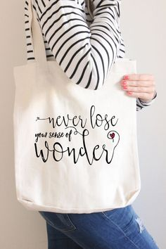 Tote bag with Quote // Cotton Tote Bag