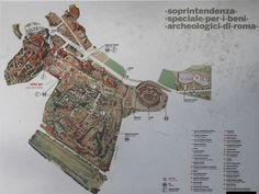 carte du forum romain de rome