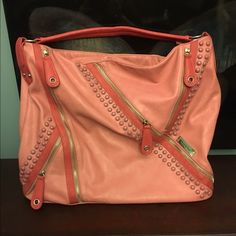 Nicole Lee purse Beautiful polyurethane and polyester made bag by Nicole Lee. Pink color mix. No damage. Nicole Lee Bags Shoulder Bags