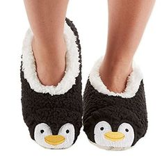 Amazon.com: Snoozies Womens Animal Heads Sherpa Plush Fleece Lined Footcoverings: Shoes