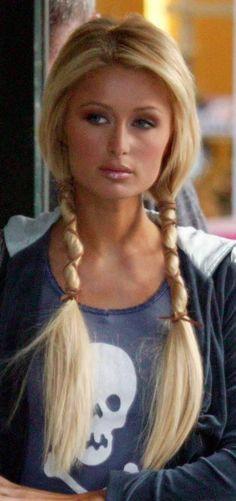 biker hair | Great idea for motorcycle hair ladies...Braids | Low Pigtails More