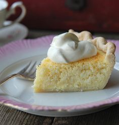 Coconut Custard Pie #recipe