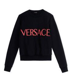 Versace Black 'Versace' Pullover