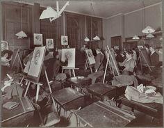 Boston public school, evening drawing school, Warren Avenue (second year class drawing from life models) - 1893