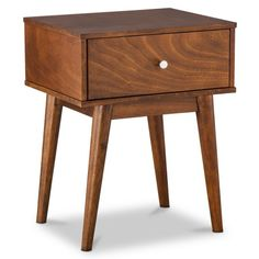 """Mid Century Modern Side Table $98 Dimensions: 24.0 """" H x 19.0 """" W x 15.75 """" D Weight: 26.4 Lb."""
