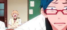 This gif basically explains their whole relationship XD Rei x Nagisa - Free! Iwatobi Swim Club