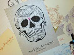 Printable Sugar Skull Wedding Invitation Set by KwirkCreative ...