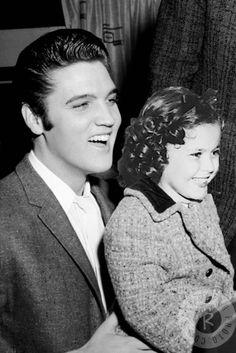 "elvis-pink-cadillac: """"Edit: Elvis Presley & Shirley Temple "" """