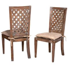Lattice back chairs