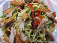 A little bit of heaven on a plate...: Smoked mackerel, tomato and linguine - supper dish - recipe