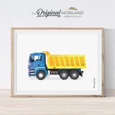 Dump Truck Print - Printable Art
