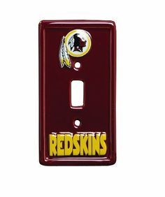 NFL 6-Inch by 3-1/4-Inch Light Switch Cover, Sculpted, 3-D, Washington Redskins by NFL. Save 43 Off!. $8.50. Team logo, with team name. Ceramic, sculpted, 3-D. Washington Redskins Night Light Switch. Light switch cover. The die-hard sports fan can accessorize their game room, bath room, bed room or heck even the living room with a NFL light switch cover of their favorite team. Let everyone know who your team is. 6-inch by 3-1/4-inch made of ceramic with sculpted (3-D) NFL Lo...