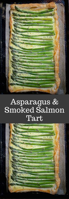 Asparagus and Smoked Salmon Tart is Perfect for Easter or Mother's Day brunch or lunch. Using store-bought puff pastry makes this elegant tart easy to make.