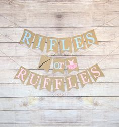 Military Baby Showers, Hunting Baby Showers, Gender Reveal Banner, Gender Reveal Decorations, Baby Banners, Custom Banners, Sams, Reveal Parties, Rifles