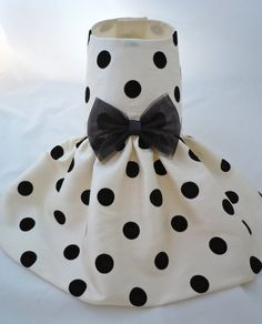 PAPYRUS DOTS - Taffeta Dress for Small Dogs - Custom Made on Etsy, $52.00