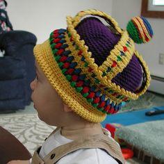 Ravelry: Crowns to Crochet pattern by Val Love Crochet Cap, Crochet Baby Hats, Crochet Beanie, Crochet For Kids, Crochet Clothes, Crochet Toys, Baby Knitting, Crochet Crafts, Yarn Crafts