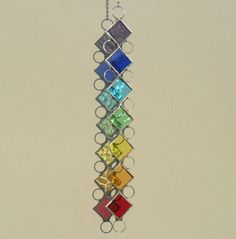 Stained Glass Chakra Suncatcher £10.00 - like the idea - will have to make a pattern and try this one soon!